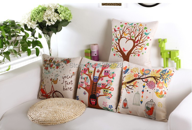 the newest design for Vintage Cotton Linen Pillow Case Sofa Waist Throw Cushion Cover Home Decor(China (Mainland))