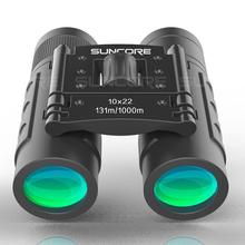 SUNCORE Охота Военная HD 10x22 бинокль профессиональный высокое качество телескоп видения зум легкий компактный черный(China)