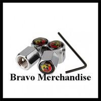 1set/lot automobile vehicle wheel tire tyre valve caps stem rims anti-theft covers with abarth car logo brands emblem badge