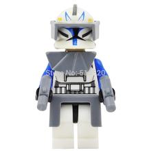 Wholesale Star Wars 7 Minifigures Captain Rex Clone Trooper Single Sale Building Blocks 20pcs/lot Set Model Figures Toys
