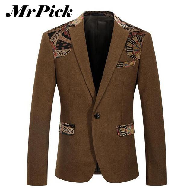 2015 новый бренд мужской пиджак мода сращены тонкой длинным рукавом пиджак куртка ...
