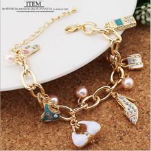 Hotsale Fashion Element Bracelets For Women Underwear bag heels lipstick Charm Bracelets(China (Mainland))