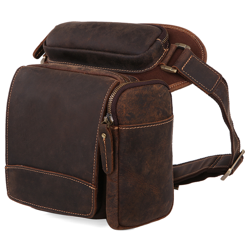 TIDING Motorcycle bicycle waist bag for men genuine leather men tactical bag cowhide leather 3113<br><br>Aliexpress