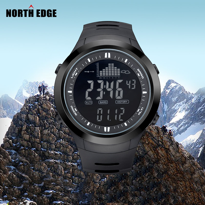 Digital-watch Men watches outdoor digital watch clock fishing altimeter barometer thermometer altitude climbing hiking hours(China (Mainland))