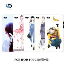 2016 mobile phone bakc cover high quality retail mix hot fashion cute white hard cases for ipod touch 4 4th free shipping