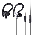 Newest Sport Earhook In Ear Earphones Headset Headphone with mic For iPhone Samsung Xiaomi MP3 High