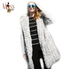 2016 winter high fashion women's luxurious loose faux wool fur coat Socialite thick warm fur long jacket parkas Top quality(China (Mainland))