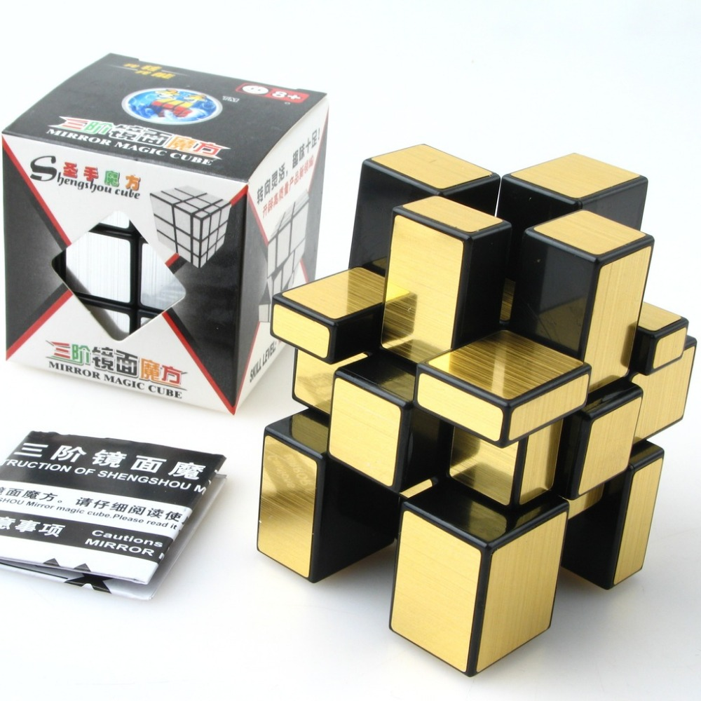 3x3x3 Magic Cube Puzzle Mirror Cubes 57mm Wire Drawing Style Cast Coated special toy gift for Educational freeshipping(China (Mainland))