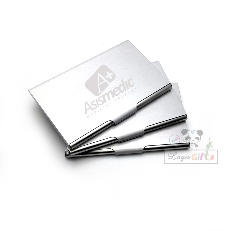 Personalized Gifts for boss card holders custom with your company brand and logo made free shipping free logo engraved(China (Mainland))