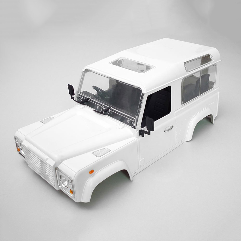 High Quality RC Rock Crawler 1:10 Land Rover Defender D90 White Car Shell RC4WD Crawler D90 DIY Bodies(China (Mainland))