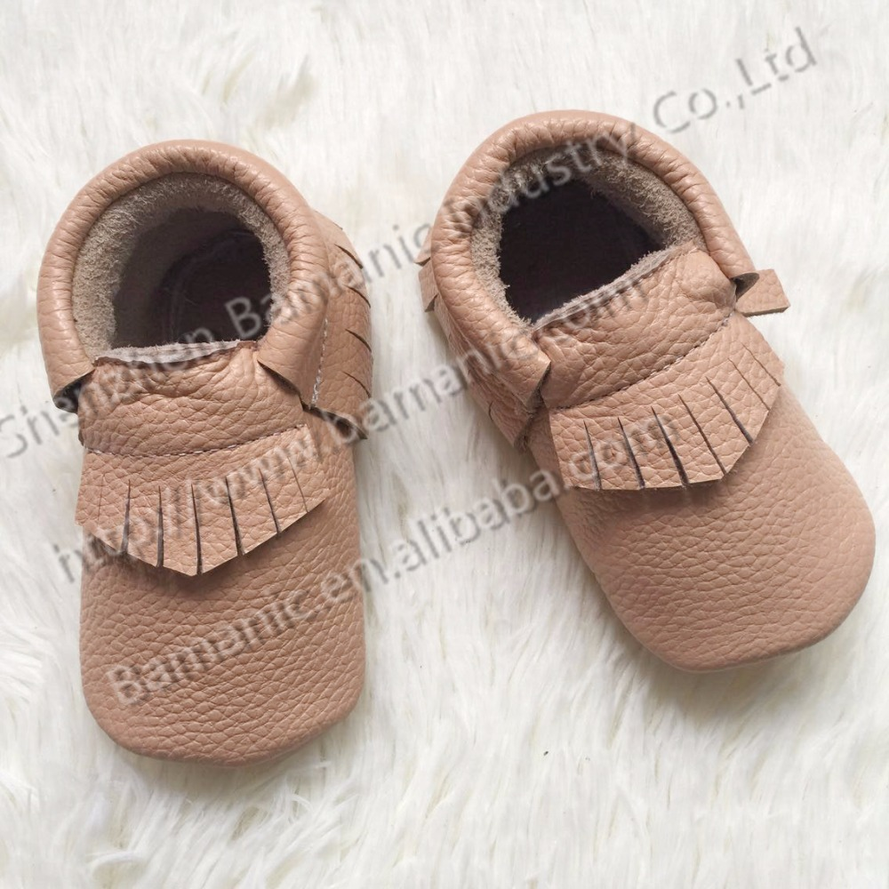 2015 discount leather sole tassels infant moccasins(China (Mainland))