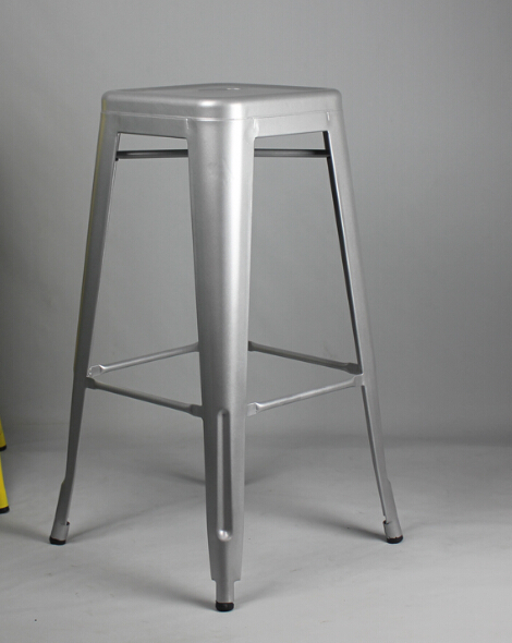 Free Shipping Silver 75cm Powder Coated Stool(China (Mainland))