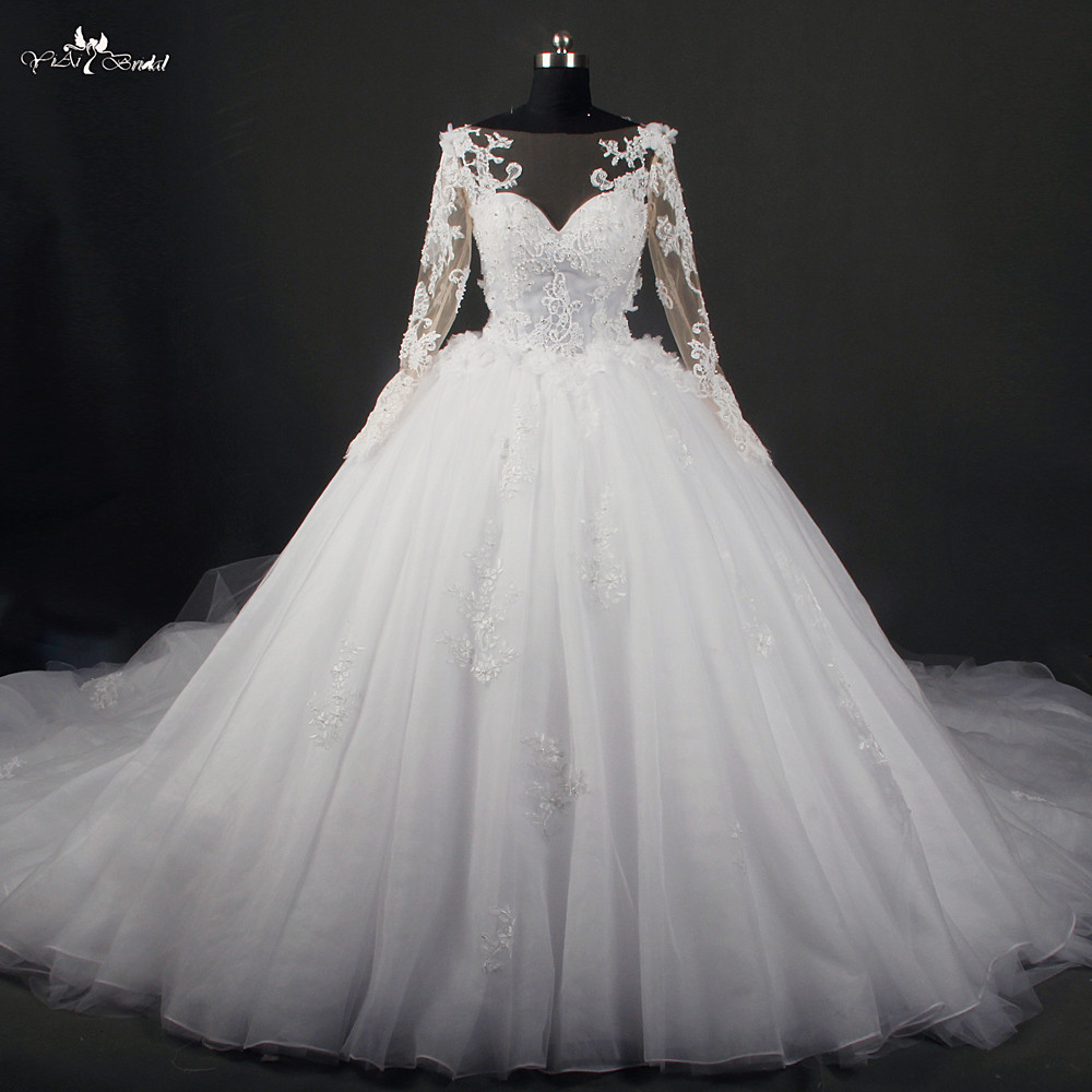 online buy wholesale lace sleeved wedding dress from china