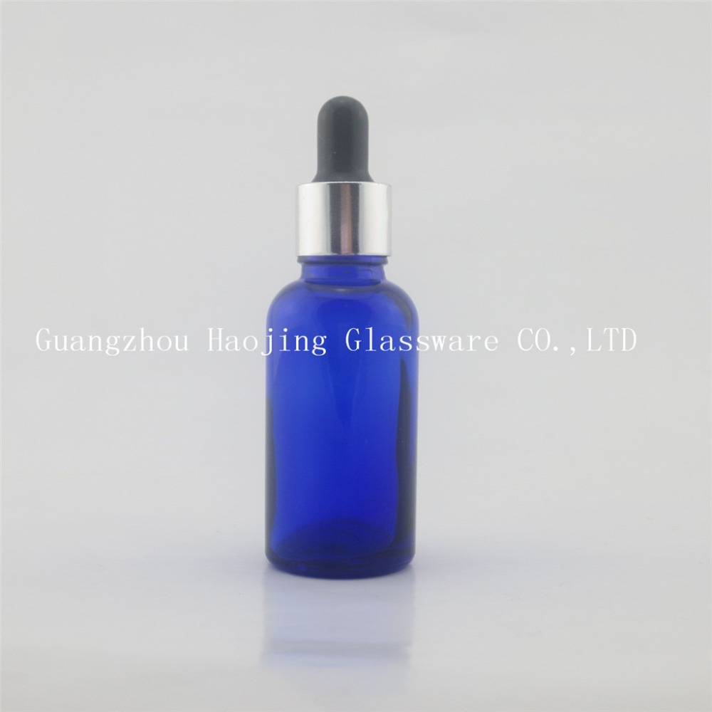 30ml blue glass bottles high quality Smoke oil glass bottles with dropper(China (Mainland))