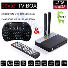 Buy CSA93 Android 6.0 TV Box 3GB 32GB Amlogic S912 Octa Core 3D 4K Streaming Media Player Wifi 1000M BT Smart Mini PC Dolby Hebrew for $86.90 in AliExpress store