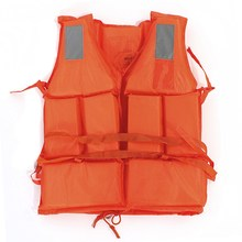 Hot High Quality Orange Adult Swimming Surfing Water-skiing Summer Drift Rafting Lift Vest Jacket flotation Device With Whistle(China (Mainland))