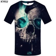 Забавная футболка с черепом, футболка для мужчин, военные футболки, повседневная футболка с принтом животных, 3d Готическая аниме одежда, кор...(China)