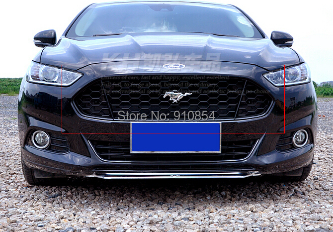 Black! honeycomb mustang Style Front Grille Grill Grid for ford fusion Mondeo 2013 2014 2015(China (Mainland))