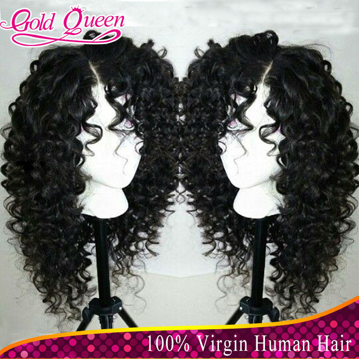 Brazilian Virgin Short Human Hair Lace Wigs Full Lace Short Kinky Curly Wigs With Baby Hair For African American Women(China (Mainland))