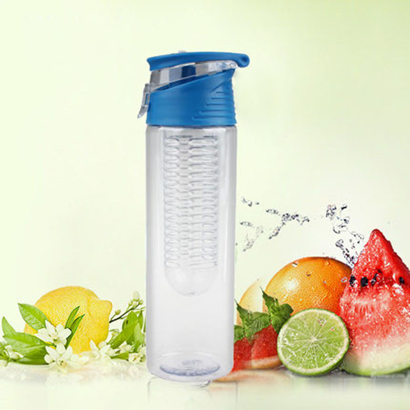Гаджет  800ML Fruit Infusing Infuser Water Sports Lemon Juice Bottle Flip Lid Suitable kitchen table Camping travel outdoor application None Дом и Сад