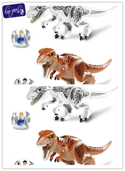 hao gao le 79151 jurrassic park 4 tyrannosaurus building blocks jurassic world dinosaur figure bricks toys