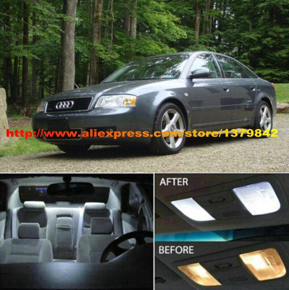 Free Shipping 19pcs Lot 12v Xenon White Blue Package Kit Led Interior Lights For Audi A6 Rs6 C5