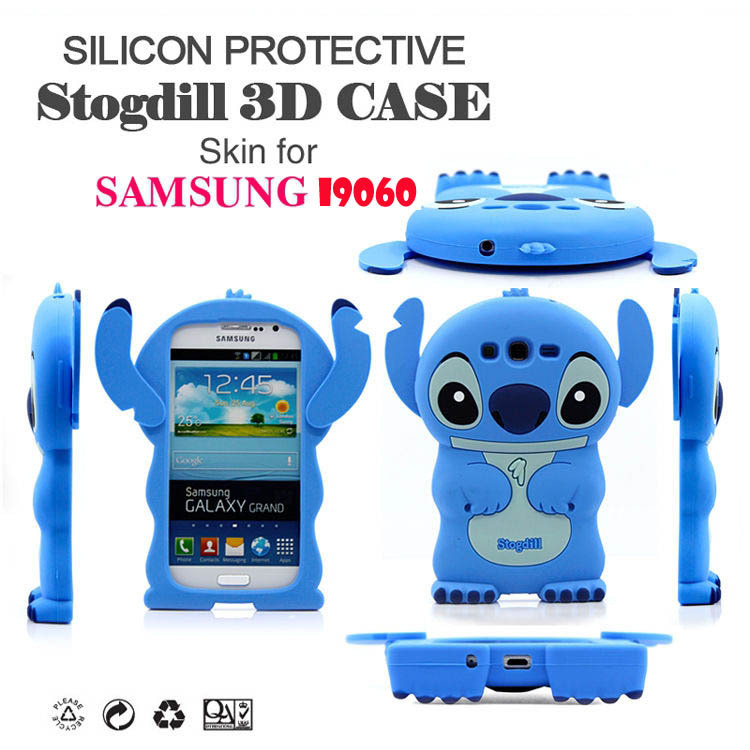 3D Cartoon Animal Lovely Stitch Soft Silicone Case Back Cover Samsung Galaxy Grand Neo i9062 i9060 Phone Rubber - TelWin Technology co.,ltd store