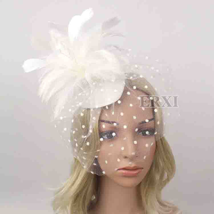 2 Color Sinamay fascinator hats hight quality bridal veils multiple color are avaliable Bride hair accessories