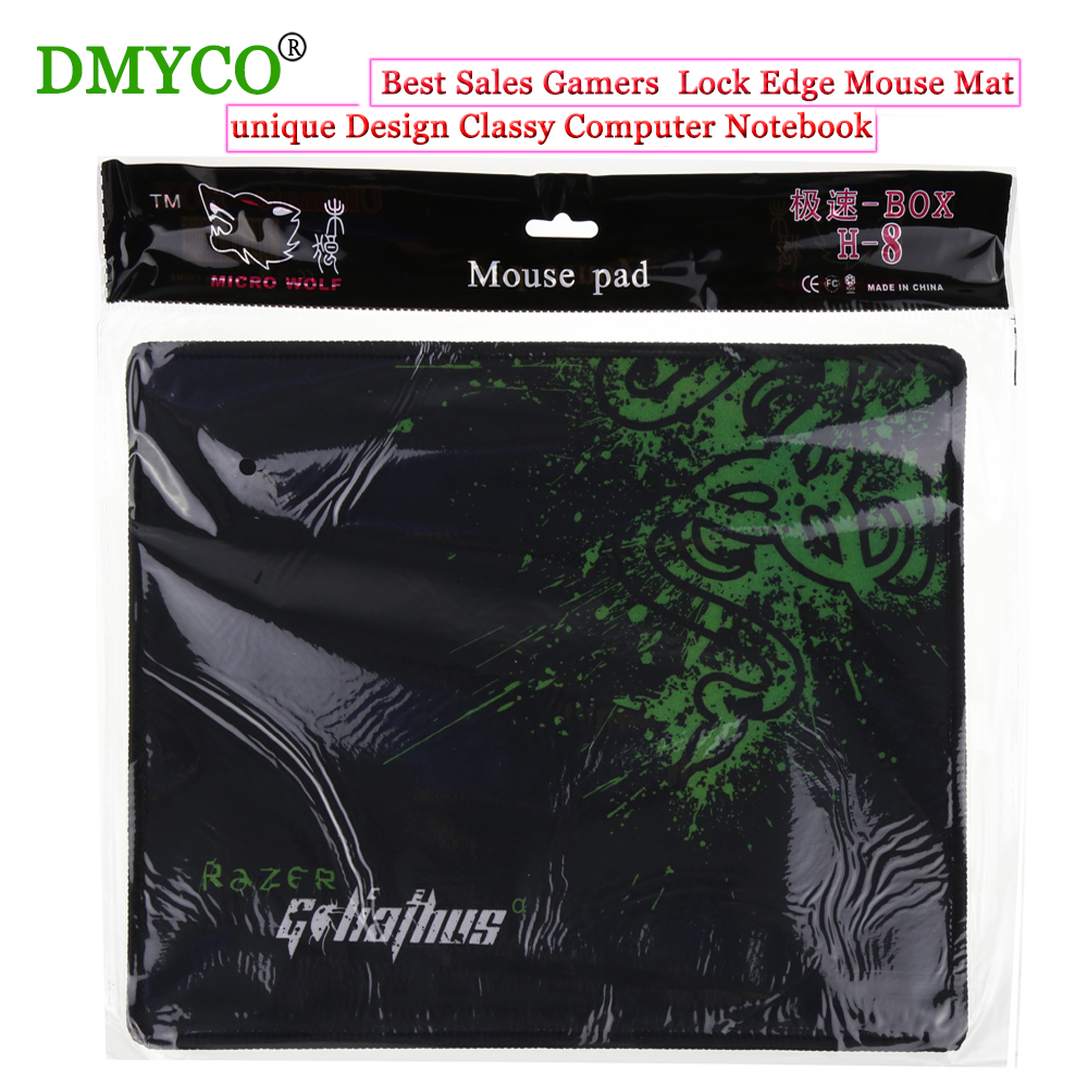 Best Sale Gamers Lock Edge Mouse Mat Speed Mouse Pad unique Design Classy Computer Notebook Rectangle Rubber Anti-slip Mouse Mat(China (Mainland))