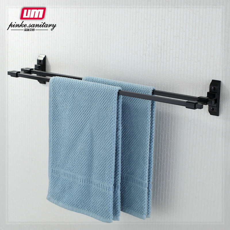 bathroom accessories towel rack double pole double layer