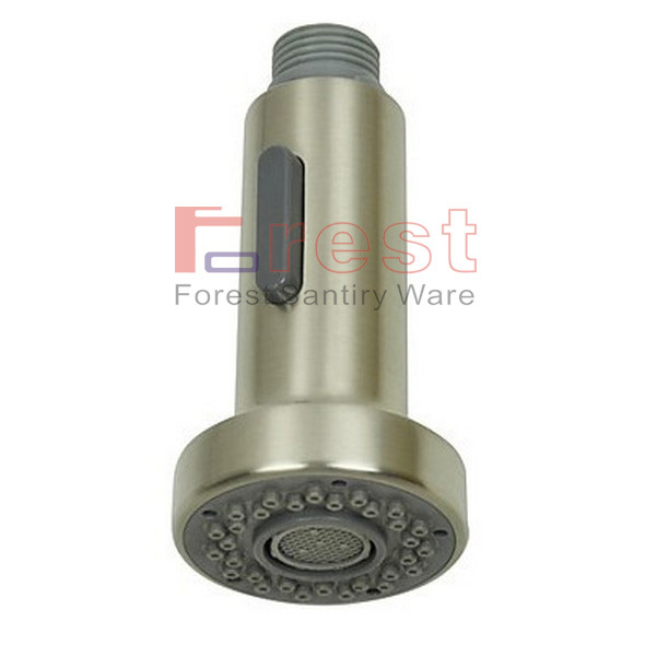 High Quality Brushed Nickel Pull Out Spray Kitchen Faucet Replacement Shower Sprayer Head Two Function Kitchen Faucet Nozzle(China (Mainland))