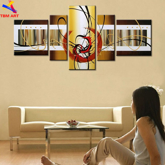 Gold Color Direct from Artist Canvas Painting Art Hand painted Modern Oil Painting On Canvas Wall Art Gift For Living Room Z064