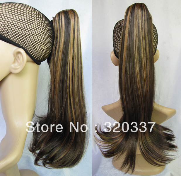 2013 New Arrival Womens Stylish Highlight Ponytail Hair Synthetic Hair Stunning Ponytail Extensions Fashion Hairpieces #5H26<br><br>Aliexpress