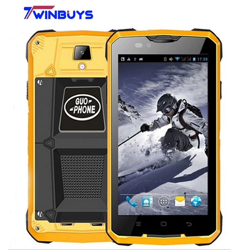 GUOPHONE V12 Smartphone waterproof shockproof 4000mah 5.0 inch Android 4.4 GPS MTK6572 Dual Core 5MP outdoor 3G WCDMA Cellphones(Hong Kong)