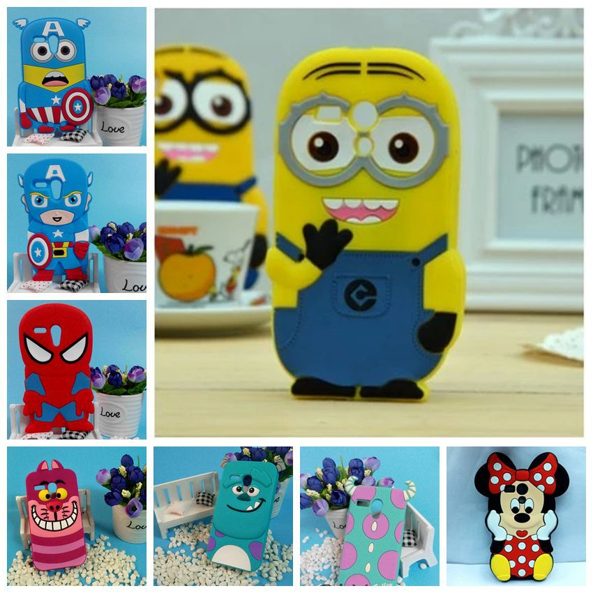 Hot sales! 3D Minions Phone Silicone soft Case Cover For Motorola Moto G XT1028 XT1032 Cases Gel Shell(China (Mainland))