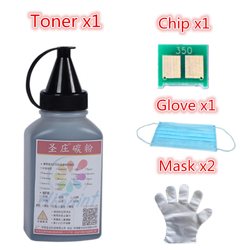 For HP 350 CF350 Black Laser Toner Powder And Chip Glove Mask For LaserJet Pro MFP M176n 177fw Printer Powder Free Shipping<br><br>Aliexpress