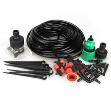 Free shipping high quality 10m DIY Micro Drip Irrigation System Plant Self Watering Garden Hose  FC(China (Mainland))