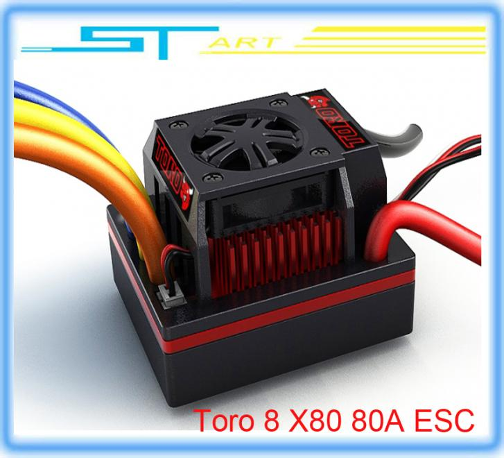 SKYRC Toro 8 X80 80A ESC Sensorless Brushless Motor 1/8 remote control car drift truck buggy low shipping fee flying