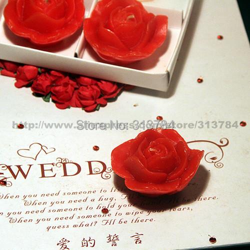 Originality stereo rose Candle Wedding Gift candle 4pcs/box(China (Mainland))