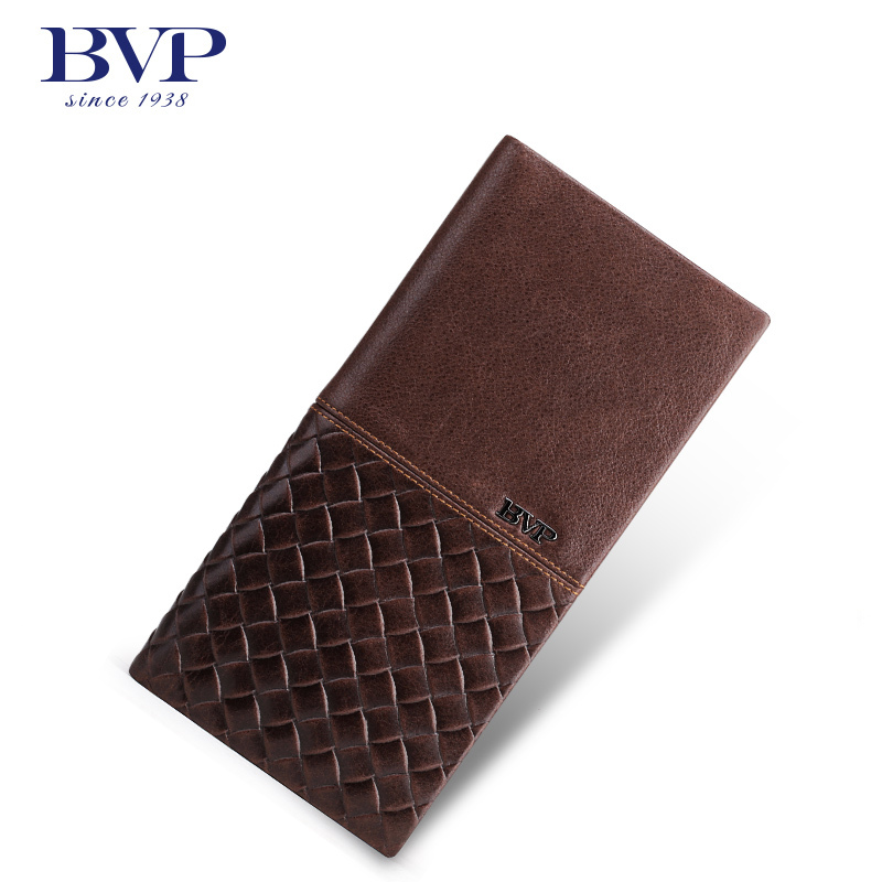 BVP high-end men genuine leather slim bifold long wallet organizer ID card holder purse checkbook Q503<br><br>Aliexpress