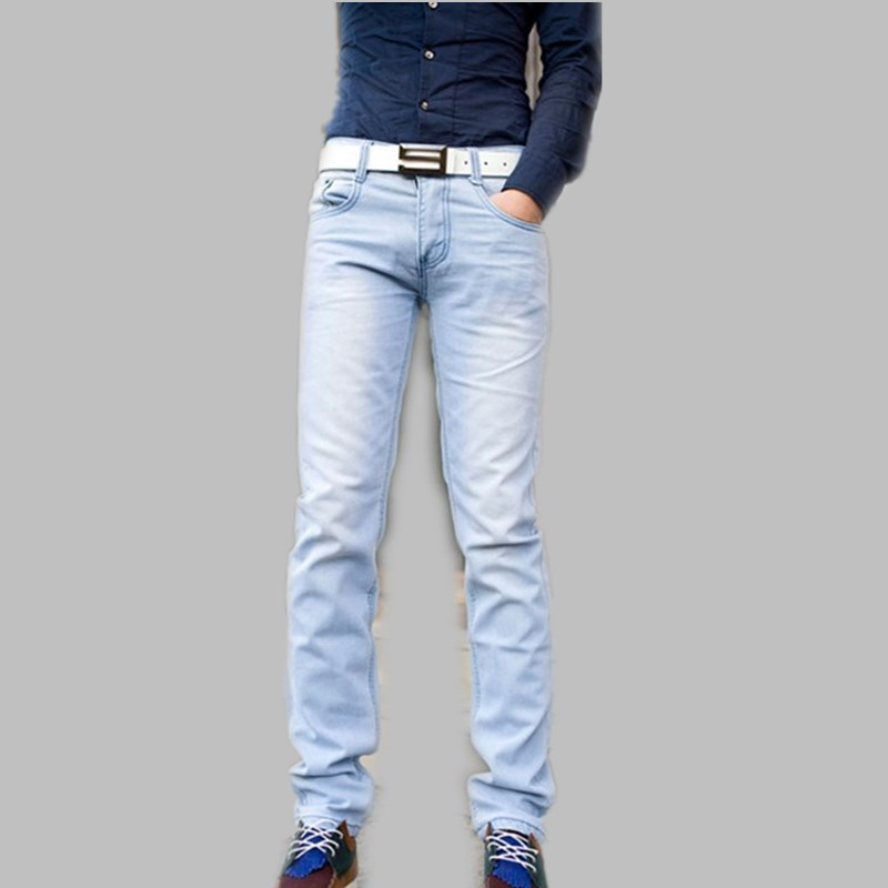 light blue jeans for men