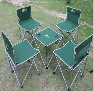 Wild Large folding tables and chairs 5 set portable folding stool outdoor folding chair large tote