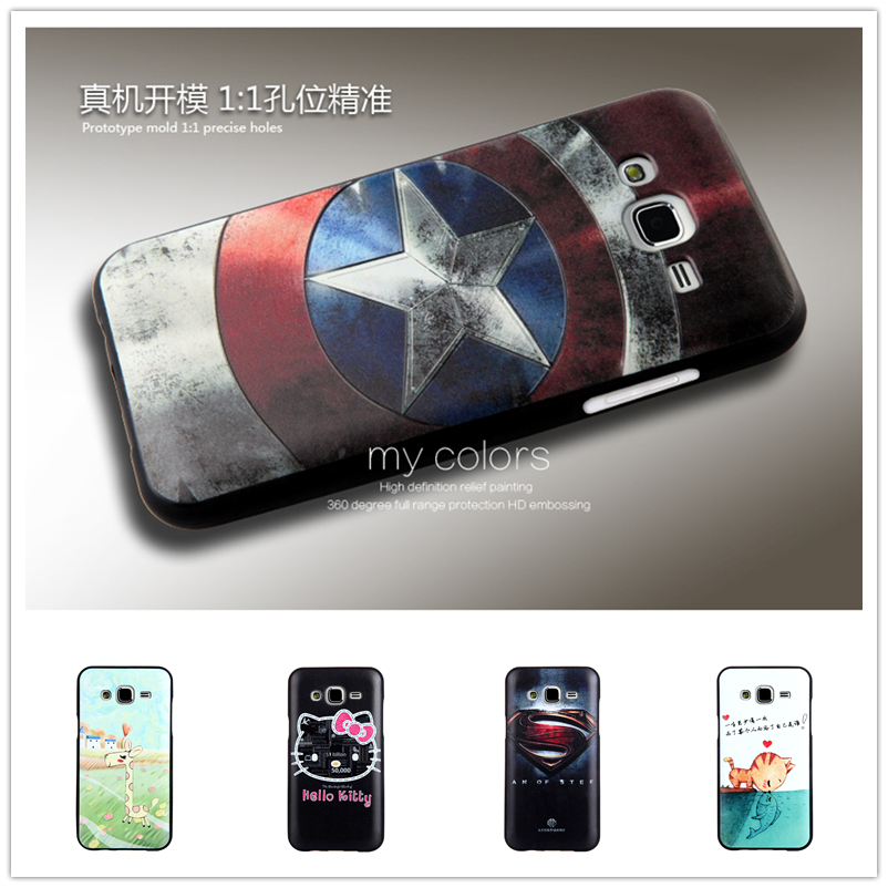Fashion Lovely 3D Pattern Sculpture TPU Cases Luxury Silicone Phone Case For Samsung Galaxy J5 J500 Painted Soft Back Cover Case(China (Mainland))