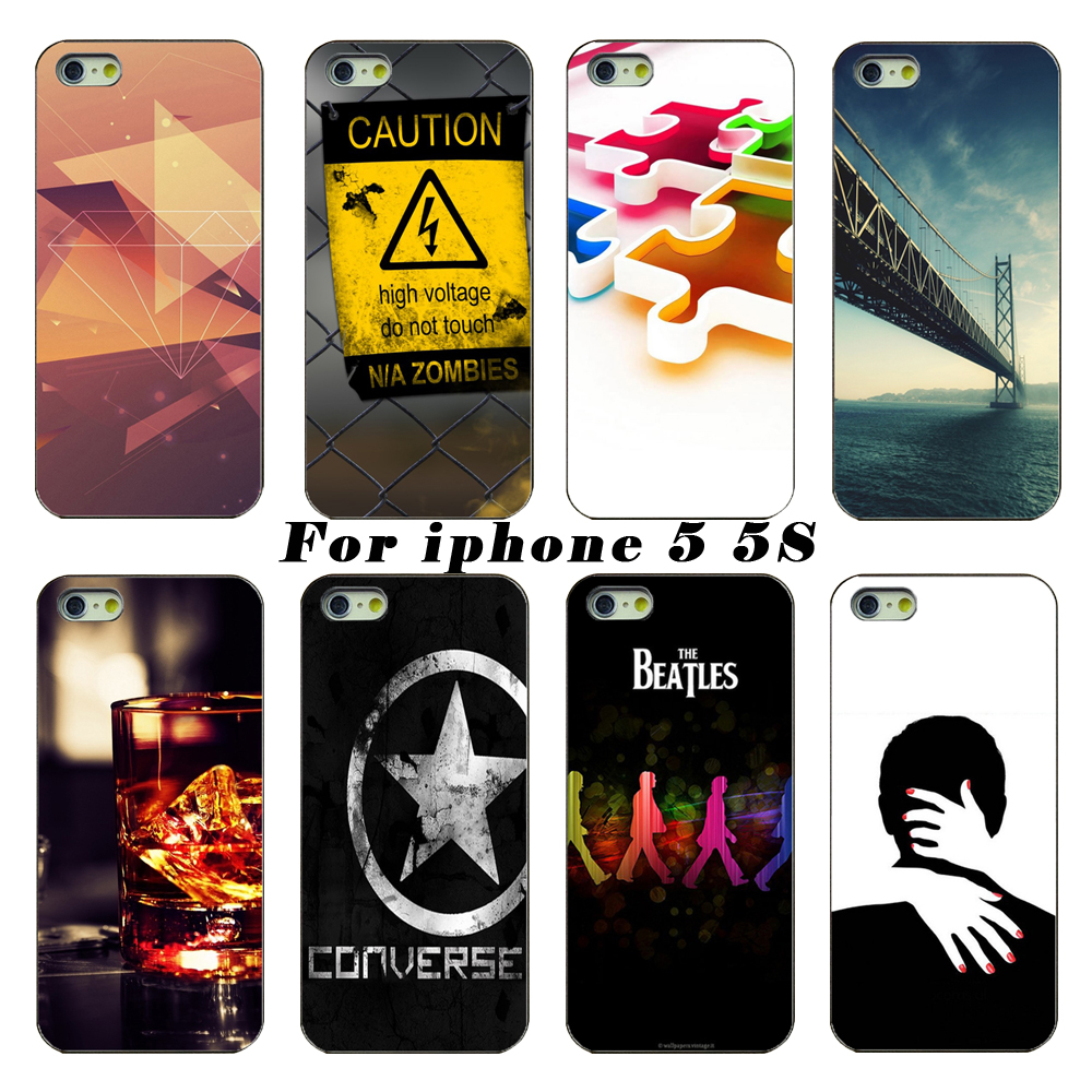 The latest fashion smartphone transparent PC shell casing For Apple iPhone 5 5s case mobile phone sets(China (Mainland))