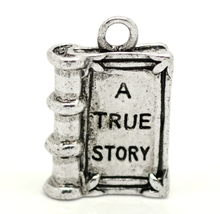 """2014 New Style 20PCs Silver Tone """"A TRUE STORY"""" Book Charm Pendants 18x12mm(3/4""""x1/2"""") (Over $100 Free Express)(China (Mainland))"""