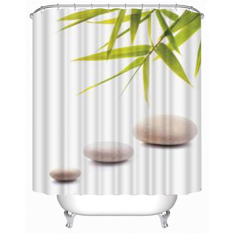 Achetez en gros bambou impression rideau de douche en - Rideau de douche bambou ...
