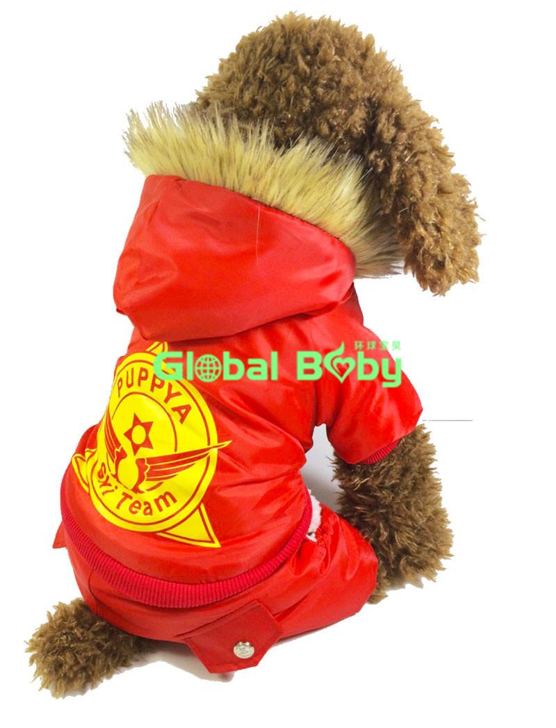 New Fashion Arctic Ski Velvet Sponge Waterproof WindBreaker Dog Clothes Pet Products Shop(China (Mainland))