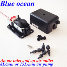 BO-2208AP, FREE SHIPPING 4 8 15 25L/min Double nozzle air pump FOR Aquarium AND ozone generator(China (Mainland))