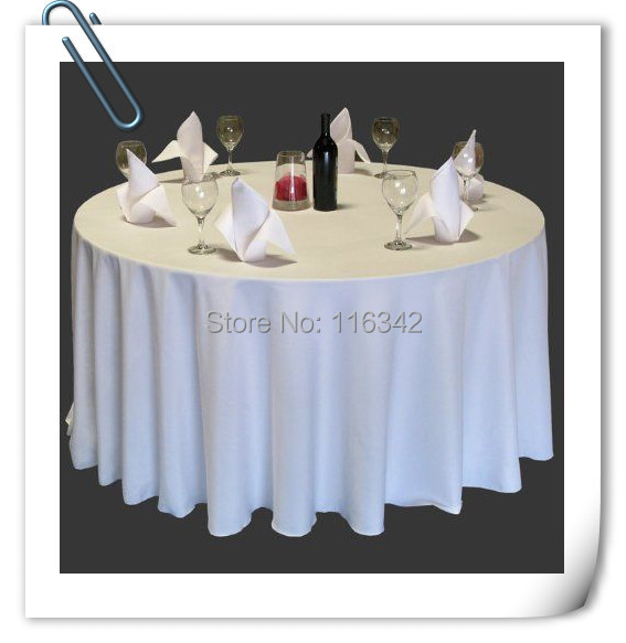 """Whole Sale 70"""" White 20pcs Polyester plain table cloth 210GSM For Wedding Events &Hotel&Banquet Free shipping!(China (Mainland))"""
