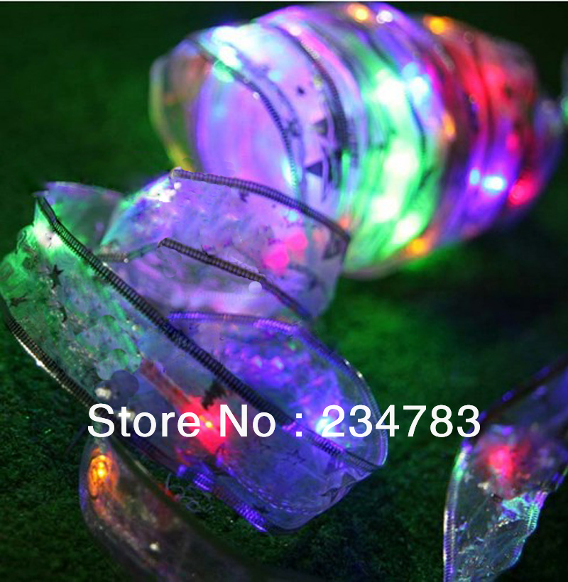 220V 5M/40 Silk Ribbon Lights LED Fairy String Lights with ...